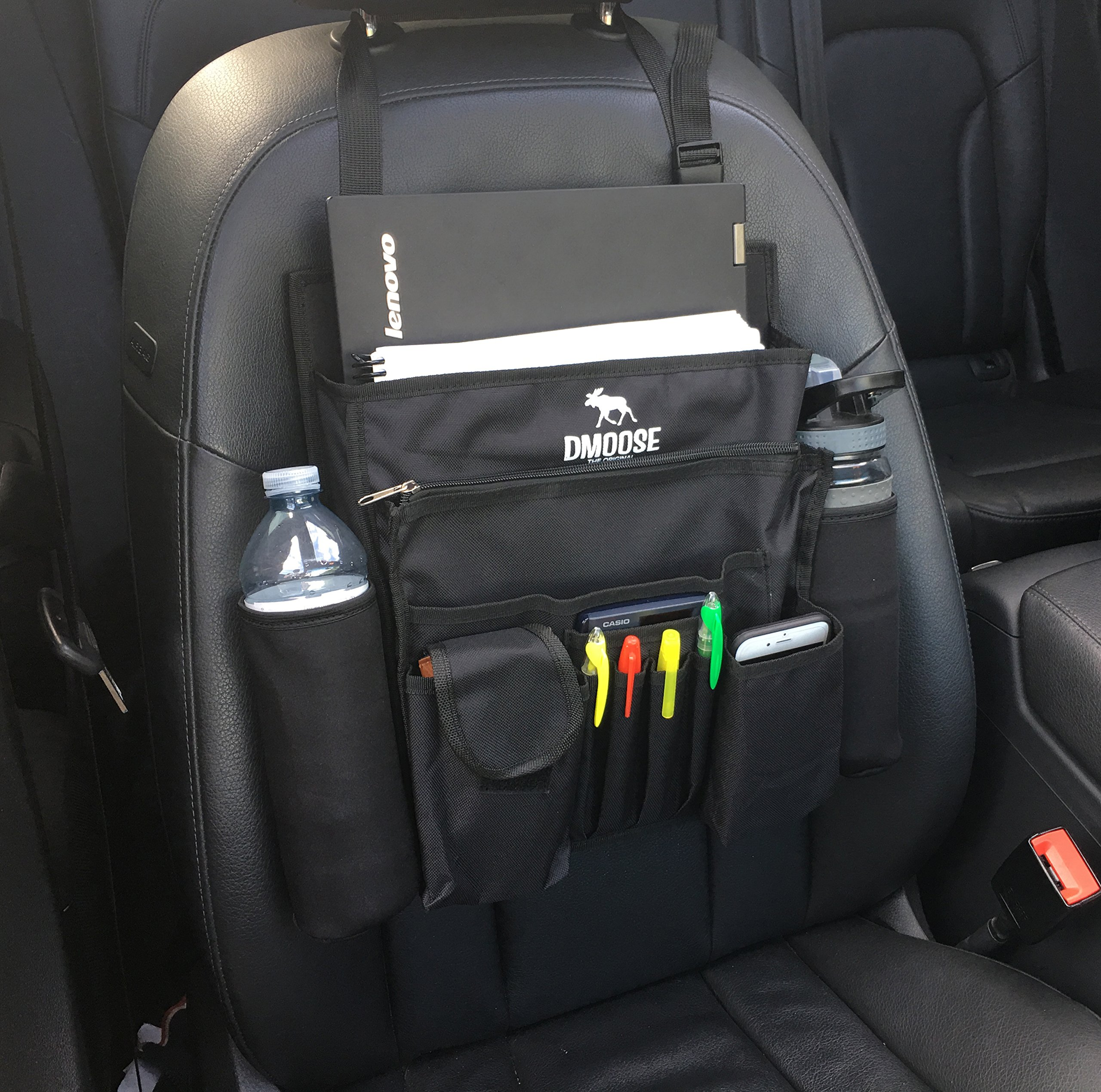 Car Front Passenger Seat Organizer With Laptop Tablet Storage By DMoose 17X1