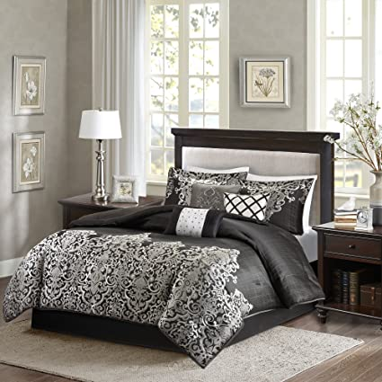 c223f30dfa76 Image Unavailable. Image not available for. Color: Madison Park MP10-1600 Vanessa  7 Piece Comforter Set