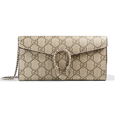 ab202136ce90 Dionysus GG Supreme chain wallet beige 404141 KHNSN 8642  Amazon.co.uk   Shoes   Bags