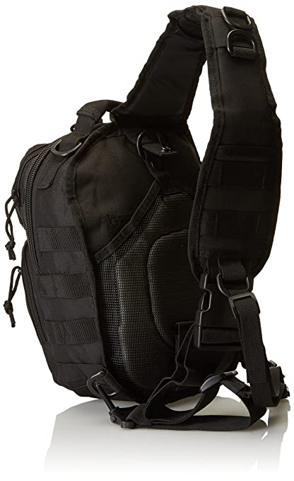 Amazon.com : Mil-Tec Single Shoulder Strap 10L Black Tactical Assault Backpack - 14059102 : Sports & Outdoors