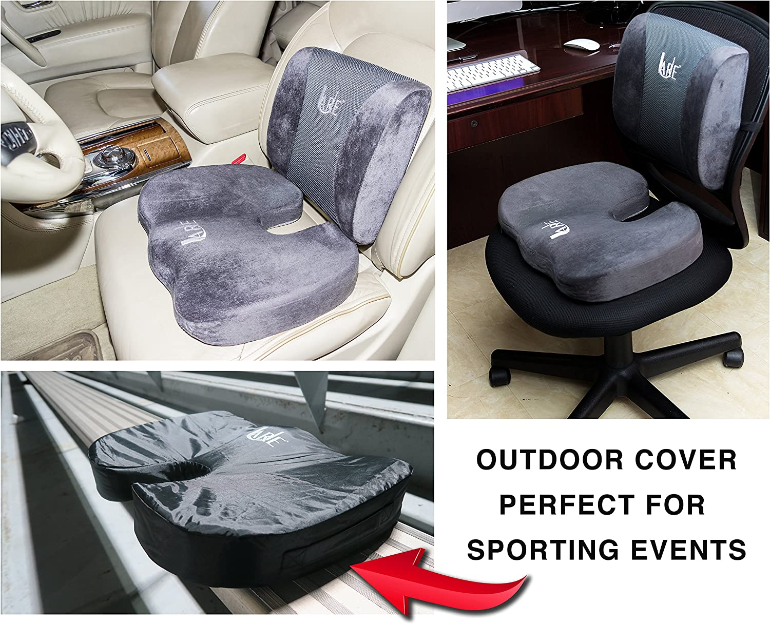 Lumbar Support Pillow for Office Chair and Car Seat Cushions