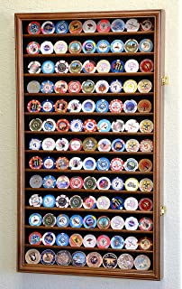 Attirant 117 L Casino Chip Coin Display Case Cabinet Chips Holder Wall Rack 98% UV  Lockable