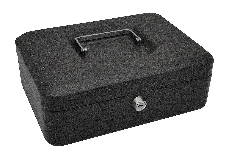 PAVO 10 Cassetta Portavalori in Metallo con 2 chiavi, Vassoio rimovibile, Grigio scuro 8011803