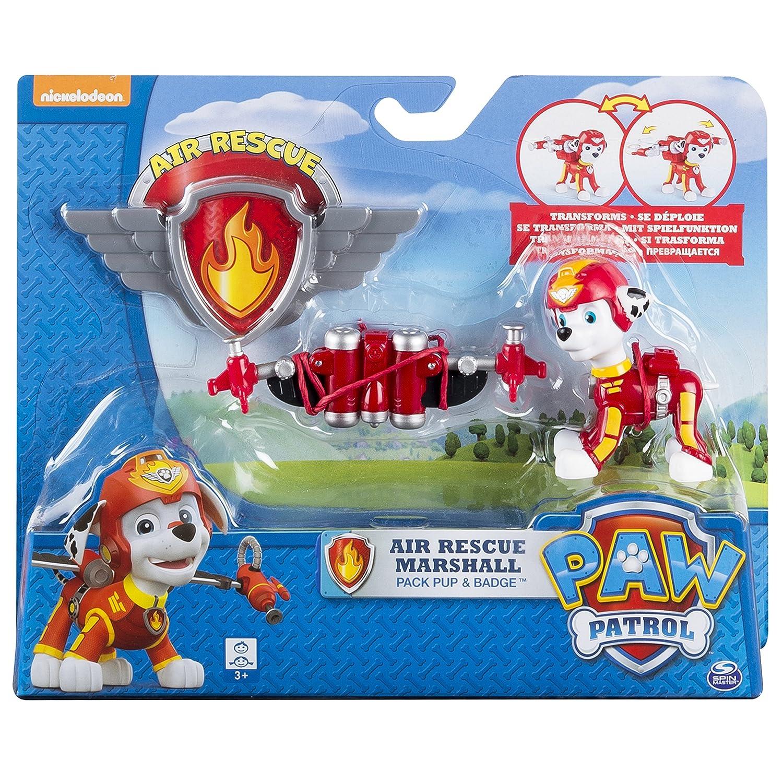 Amazon.com: Paw Patrol Air Rescue Marshall, Pup Pack U0026 Badge: Toys U0026 Games