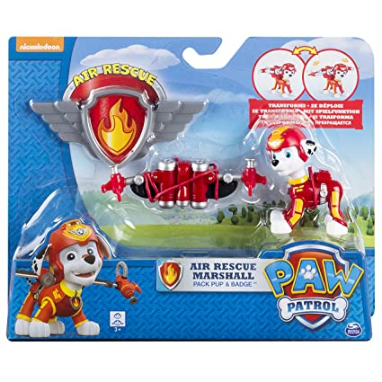 Amazon Com Paw Patrol Air Rescue Marshall Pup Pack Badge Toys