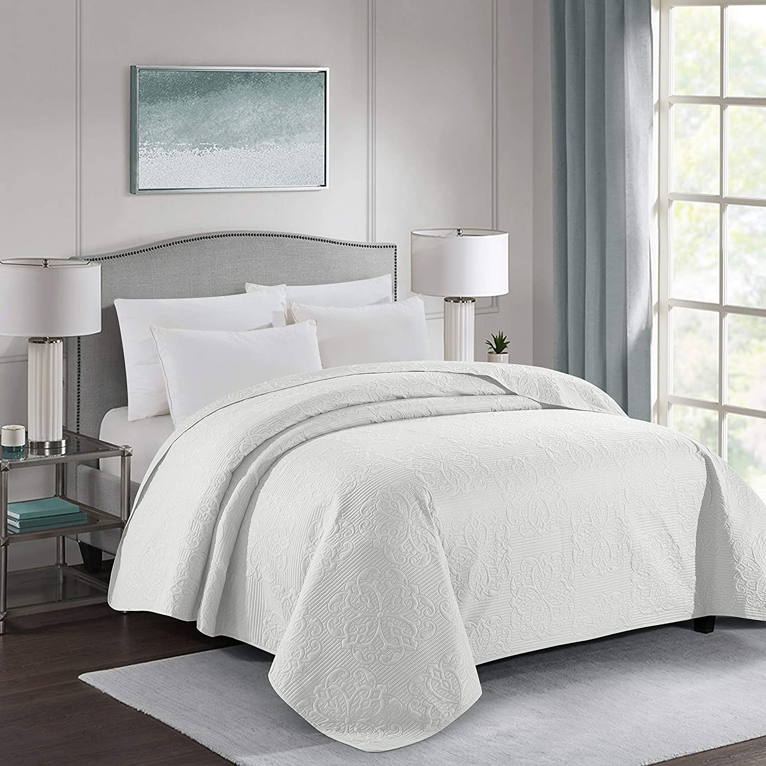 ALPHA HOME Embossing Bed Quilt Queen Size 96
