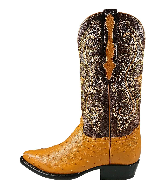 7bf6d05d3e0 Amazon.com | El General Exotic Cowboy Boots Ostrich Leather Color ...