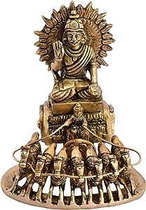 BHARAT HAAT Lord Surya On Chariot Unique Decorative Piece BH05346