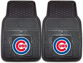 "product image for FANMATS 8782 MLB Chicago Cubs Vinyl Heavy Duty Car Mat,Black,18""x27"""