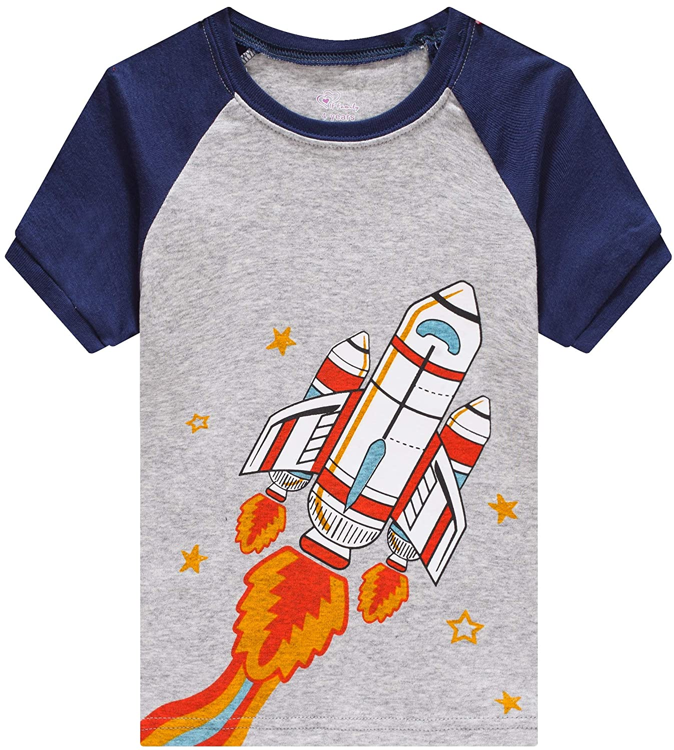 IF Family Pajamas for Boys Baby Summer Clothes Toddler Kids Space PJs Short Sets Girls Cotton Sleepwear