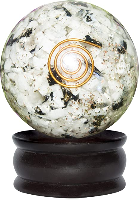 Crocon - Bola esférica hecha de piedra preciosa de orgón ...