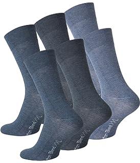 3 Paar Herren Socken Übergröße ohne Gummi Baumwolle Elasthan blau XXL 47 bis 50