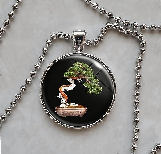 Amazon bonsai tree japanese pendant necklace handmade bonsai tree japanese pendant necklace mozeypictures Images