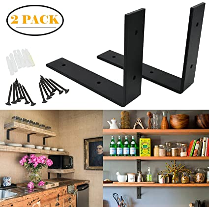 Amazon.com: AddGrace 2 Pack Heavy Duty Shelf Bracket Thick ...
