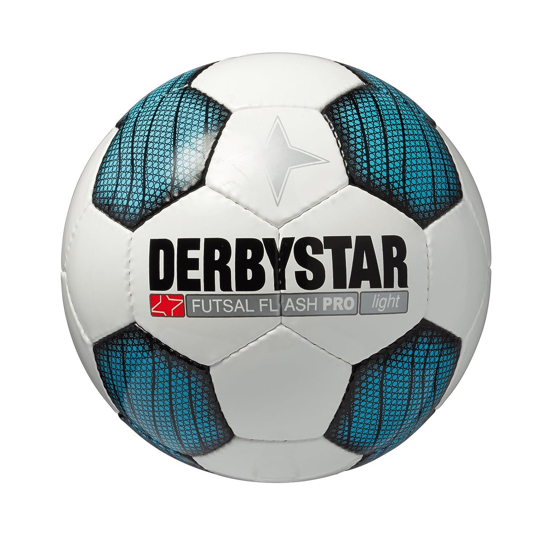 Derbystar enfants futsal-ball Flash pro clair 4 Homme garçon Futsal Flash Pro Light Blanc/bleu 1079400162