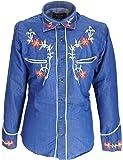 Denim Blue Western Cowboy Vintage/Retro Shirts