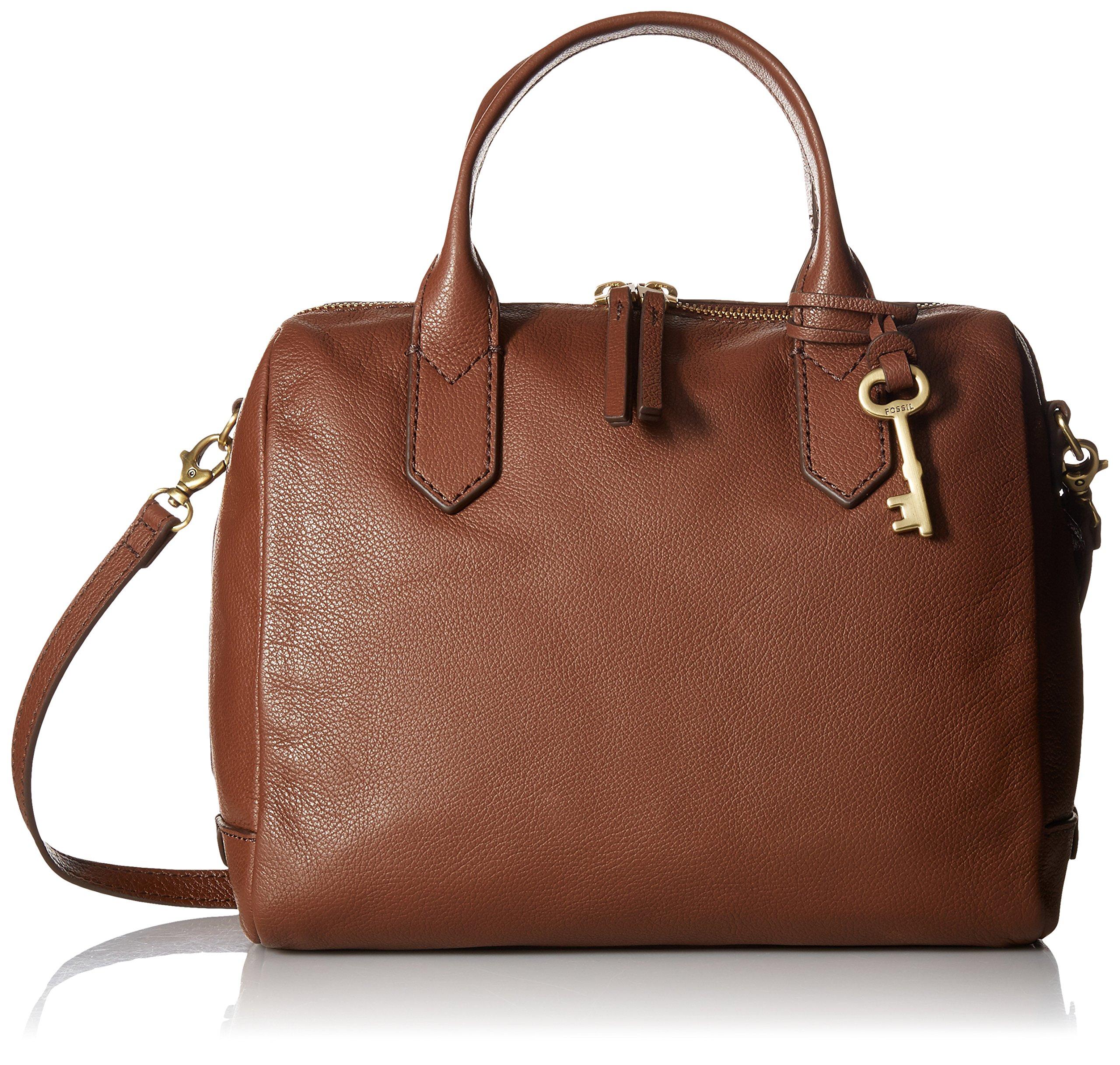 Fossil Fiona Satchel Handbag, Medium Brown