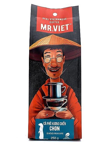 Mr Viet Chon - Mezcla Fresca de Auténtico Café Vietnamita Tostado Molido Análogo al Kopi Luwak