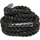 Amazon Basics Battle Exercise Training Rope - 30/40/50 Foot Lengths, 1.5/2 Inch Widths