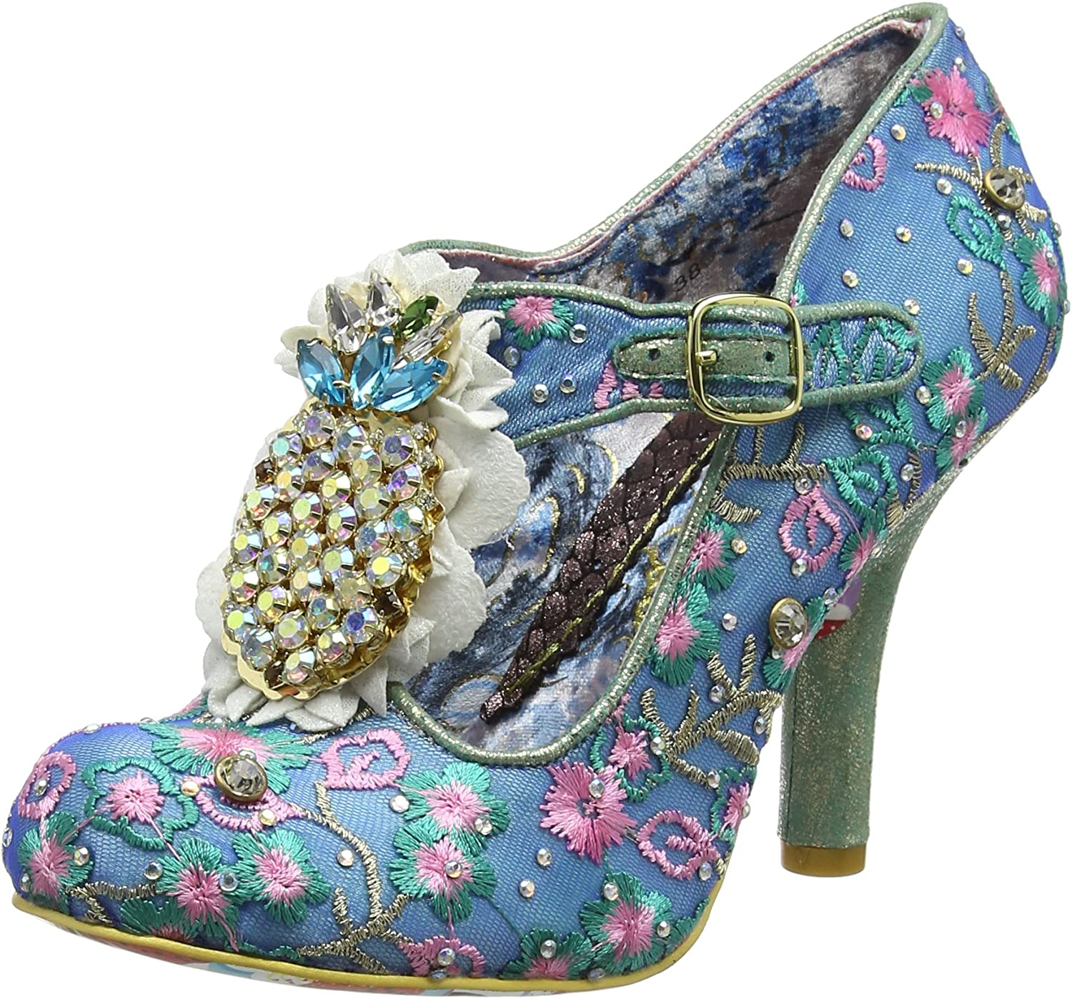 Irregular Choice Pea Pods, Zapatos con Tacon y Tira Vertical para Mujer
