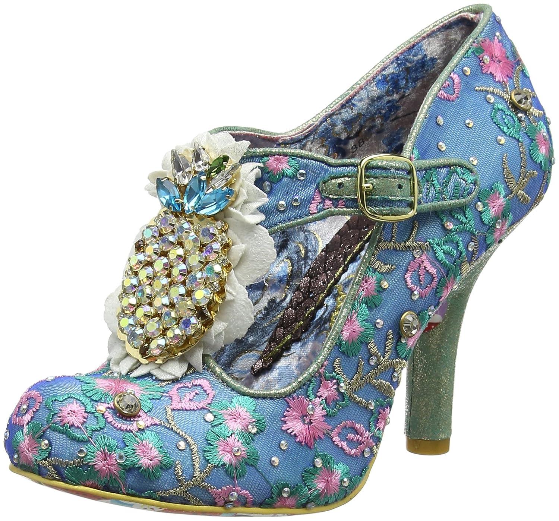 TALLA 40 EU. Irregular Choice Pea Pods, Zapatos con Tacon y Tira Vertical para Mujer