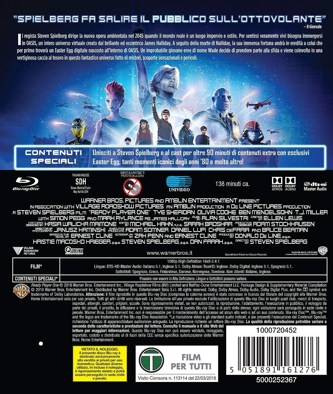 Ready Player One [Italia] [Blu-ray]: Amazon.es: Olivia Cooke, Simon Pegg, Tye Sheridan, Steven Spielberg: Cine y Series TV
