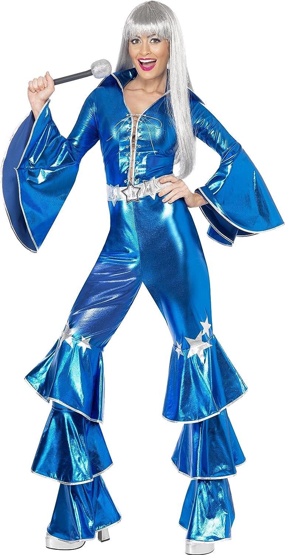 Smiffys-41159M Disfraz de El sueño del Baile, Incluye Enterizo con Cordones, Color Azul, M-EU Tamaño 40-42 (Smiffy'S 41159M)