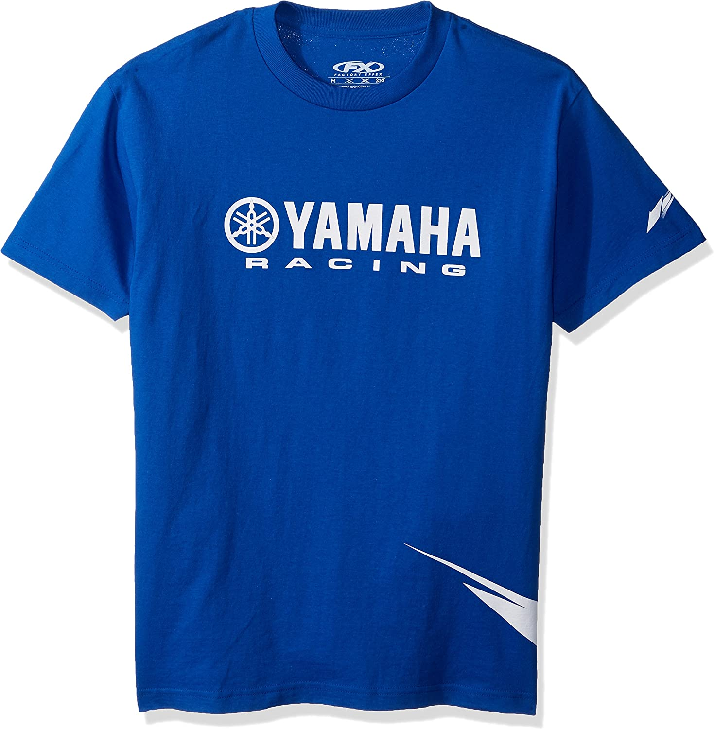Black, X-Large Unisex-Adult Yamaha Racing Stripes T-Shirt 1 Pack 19-87206 Factory Effex