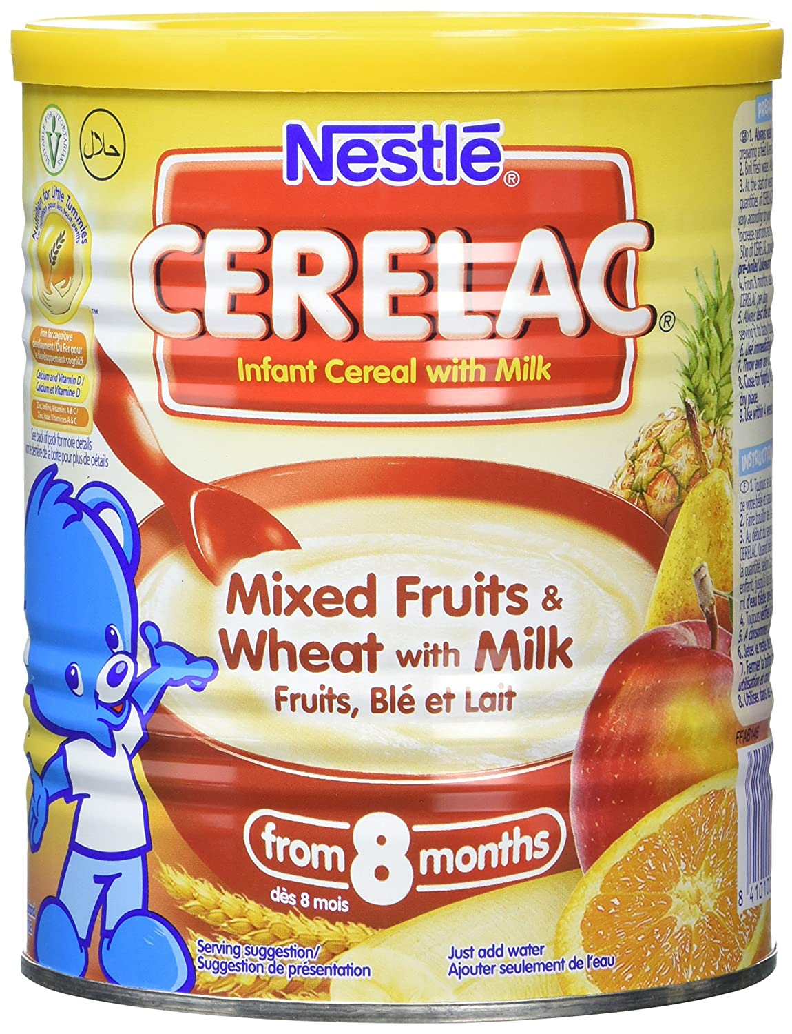 Nestlé CERELAC Mixed Fruits and Wheat with Milk Infant Cereal 400g, 8 months+ (Pack of 4) Nestle C002
