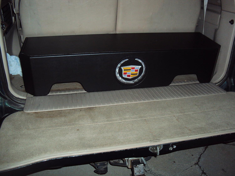 Escalade SUV Behind 3rd Row Seat Sub Box Subwoofer Enclosure Downfire