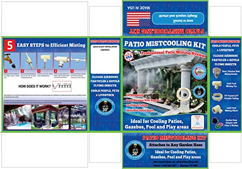Patio Misting Kit Assembly 1 4 Inch Misting Line