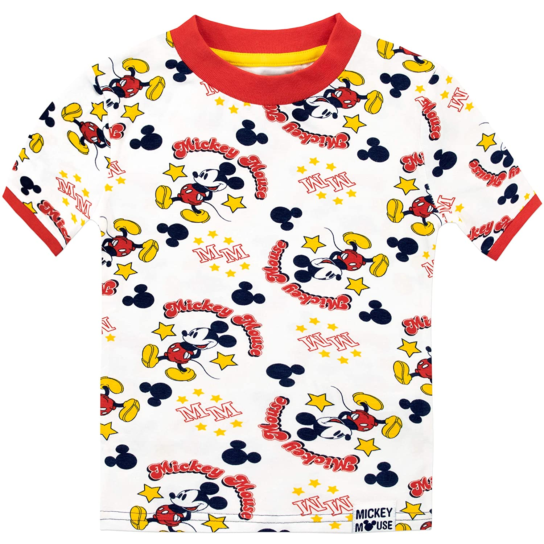 Disney Pigiama a Maniche Lunghe per Ragazzi Mickey Mouse
