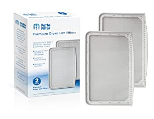 Fette Filter – Dryer Lint Filter Screen Compatible with Maytag 33001808, WP33001808 and Compatible with Whirlpool WP33001808. (Pack of 2)