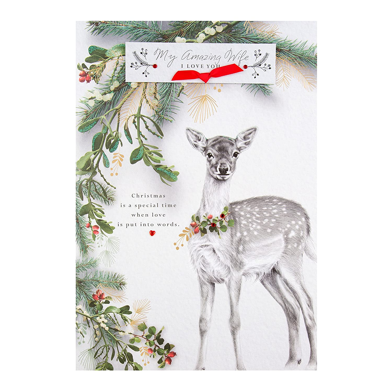 "Hallmark Large 25476925 Wife""I Love You"" Christmas Card"