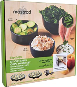 Mastrad Microwave Chip Maker - Topchips Healthy Chip Maker - Includes 2 Trays and Mandoline - Try with Potatoes, Zucchini, Avocado, and More -