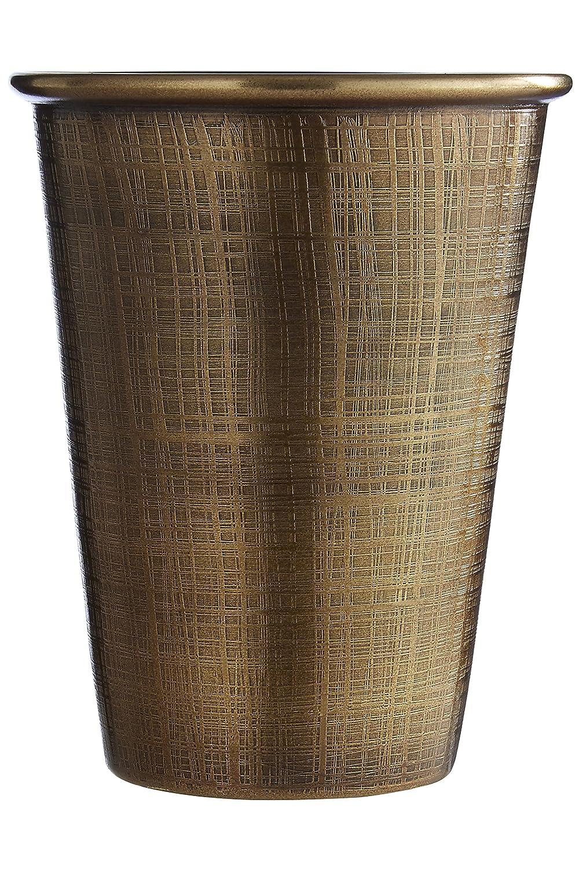 Gold 11 x 9 x 9 cm Antique Brass Finish Premium Housewares Madison Tumbler