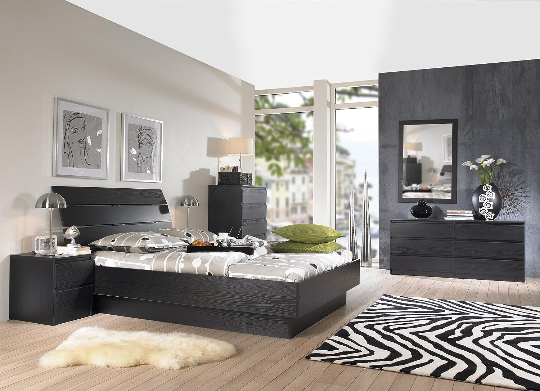 amazoncom tvilum scottsdale 6drawer double dresser black and woodgrain kitchen u0026 dining