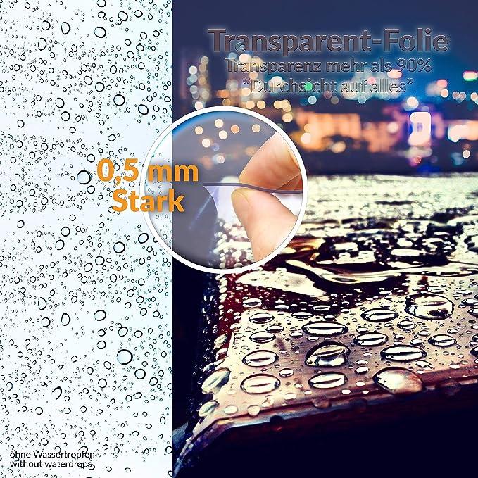 Marqué transparente largeur 140 cm 0,2 mm Garanti Nappe Film
