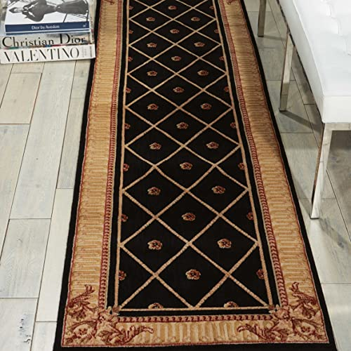 Nourison Ashton House Black Rectangle Area Rug, 2-Feet by 2-Feet 9-Inches 2 x 2 9