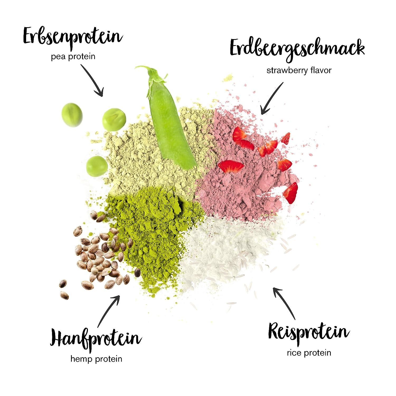 nu3 - Proteína vegana 3K - 1kg de fórmula - 70% de proteína a base de 3 componentes vegetales - Proteínas para el crecimiento de la masa muscular con ...