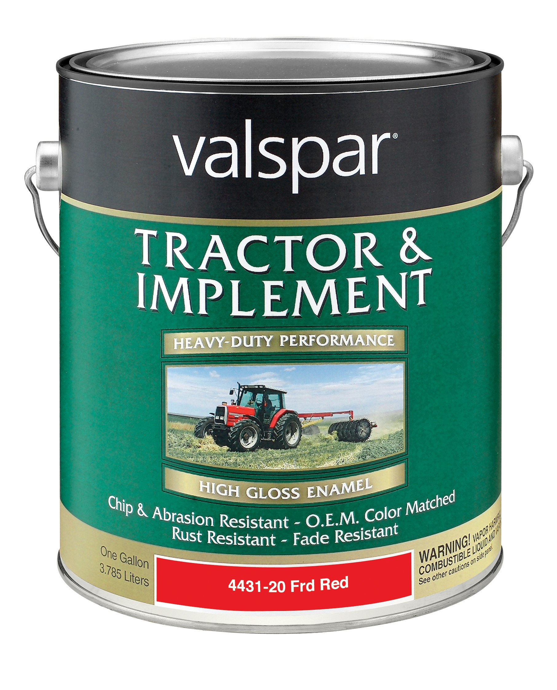 Valspar 4431-20 Ford Red Tractor and Implement Paint - 1 Gallon