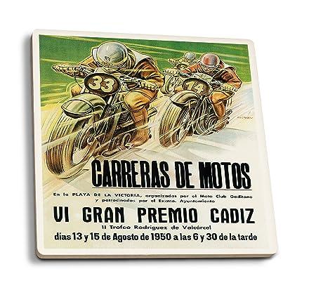 Moto Racing Promoción Vintage Póster