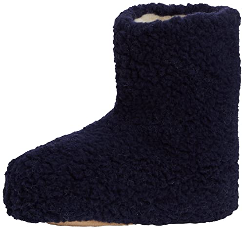 Woolsies Yeti Natural Wool Slipper Booties Zapatillas de Estar Por casa Adultos Unisex, Grey (Graphite Grey), 37 EU