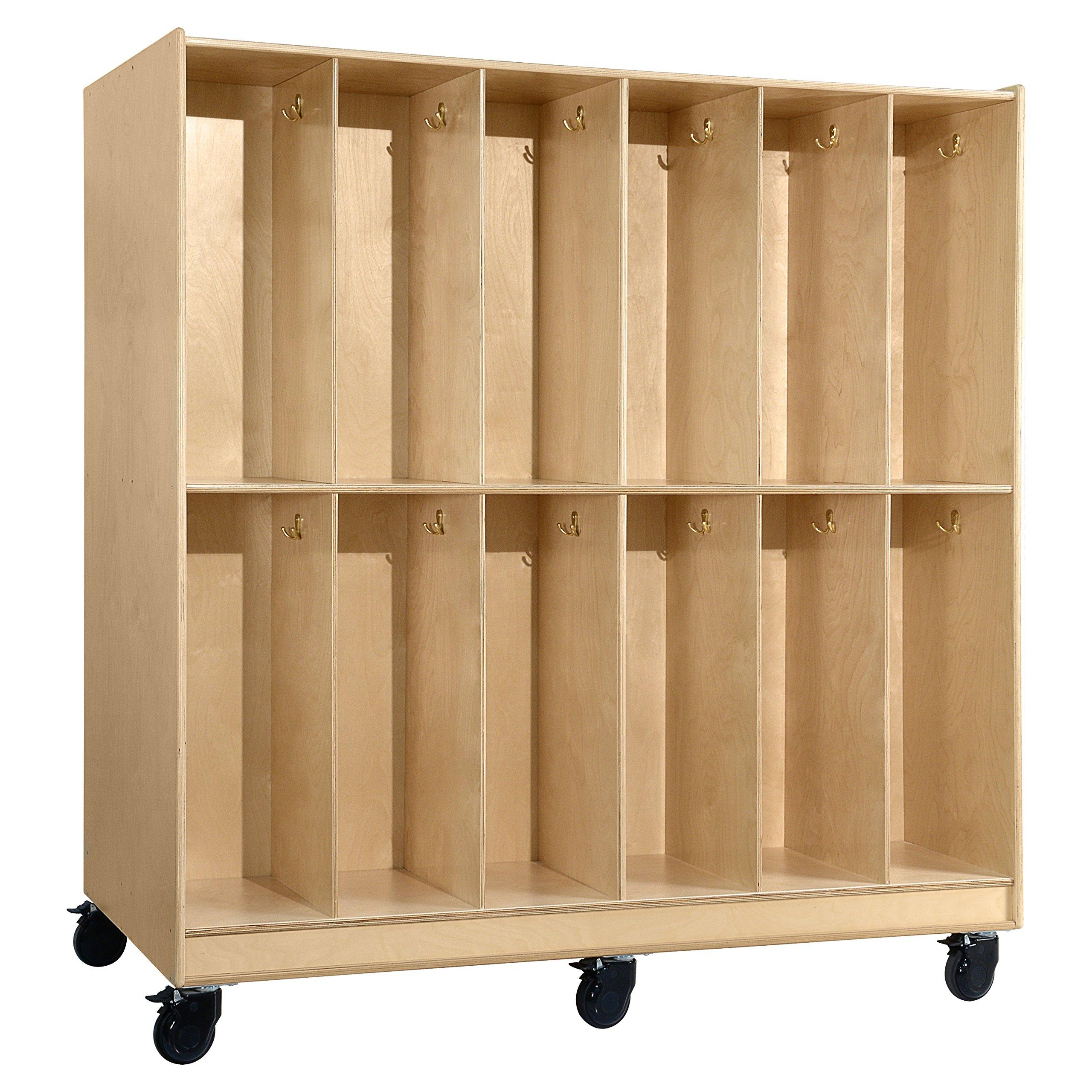 Wood Designs 991264 Mobile 24 Section Locker, Natural