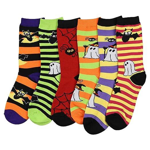 Fun Colorful Crew Sock 6 Packs