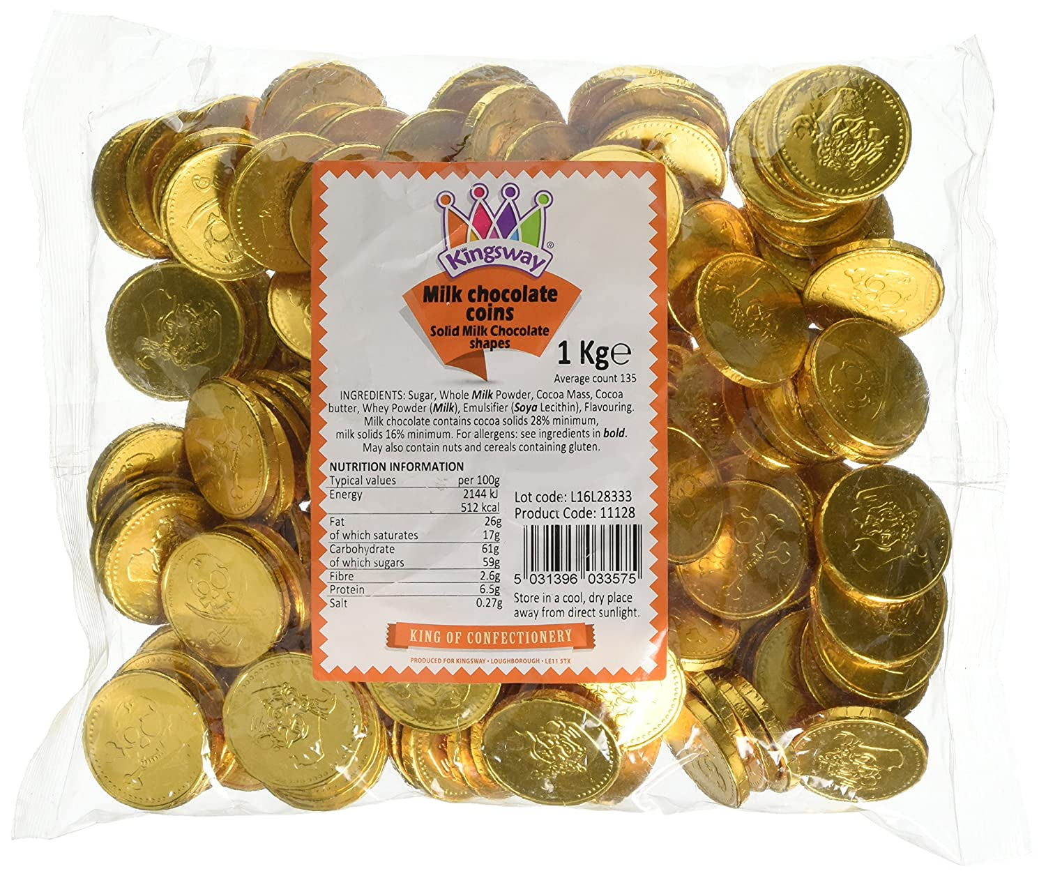Milk Chocolate Gold Pirate Coins 1 Kilogram Bag (Approx 135 coins ...