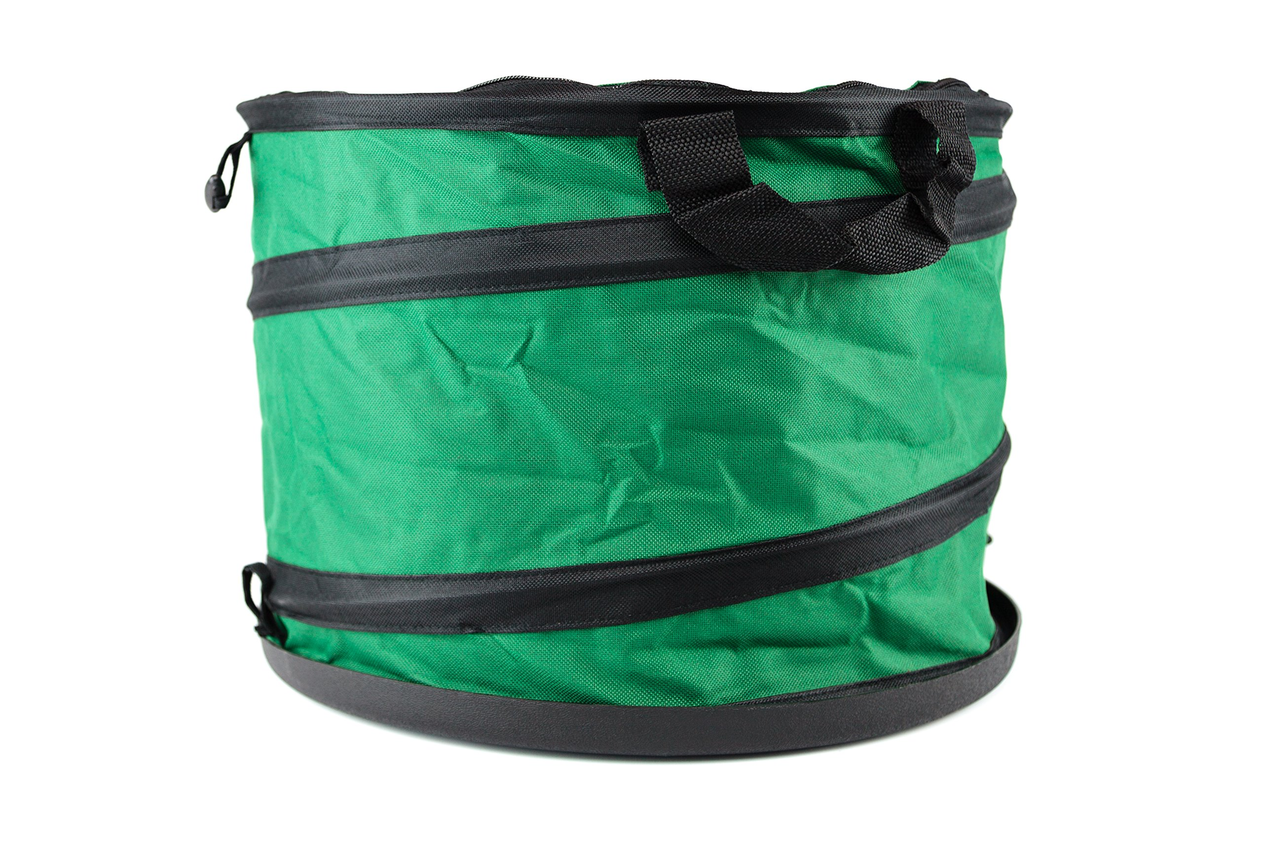 Useful UH-GB171 10 Gallon Hard Shell Bottom Pop-Up Gardening Bag or Camping trash can with Zip Closed Lid