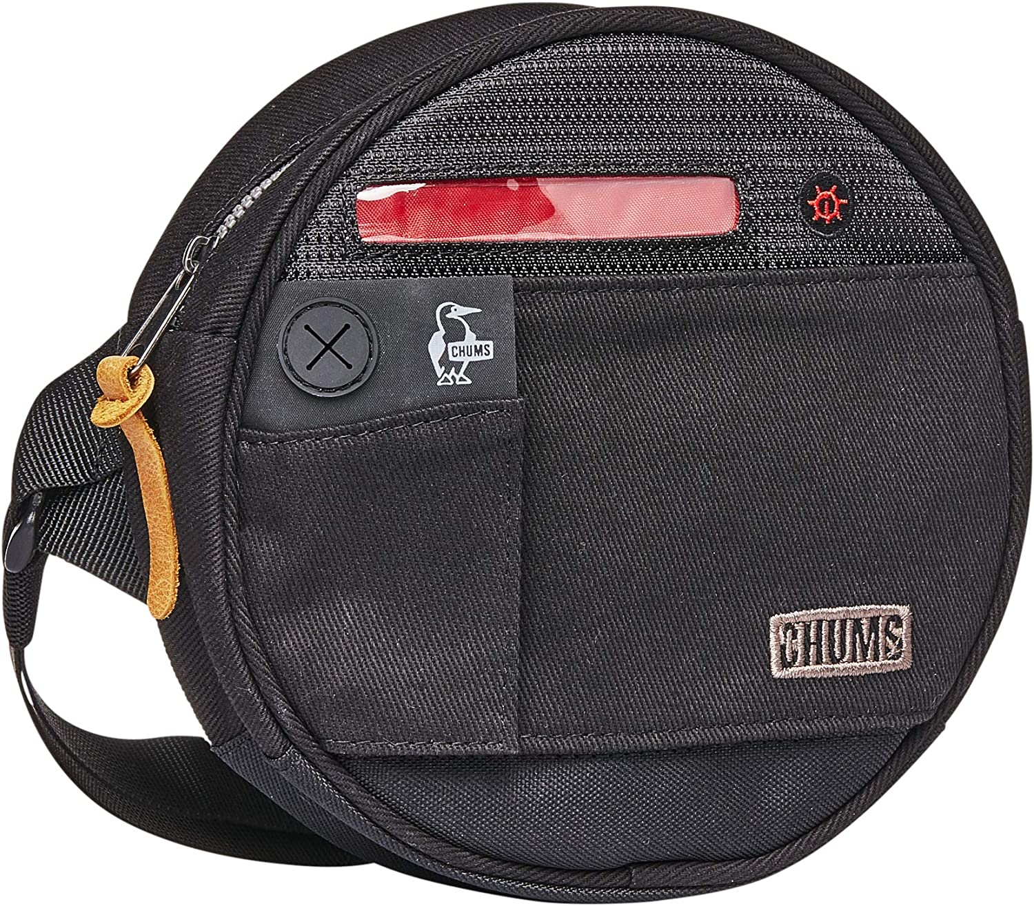 Chums Hi Beam Round Reflective LED Waist Pack Shoulder Bag Bike Mount
