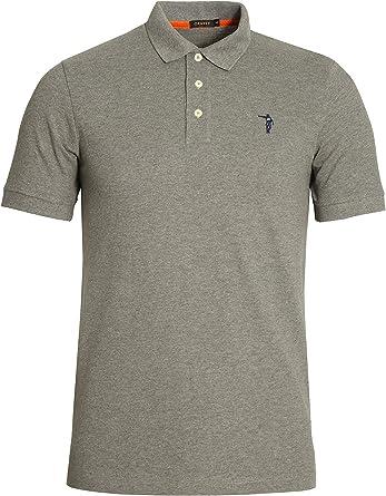 JOHAN CRUYFF Maestro SS Polo Shirt | Melange Grey: Amazon.es: Ropa ...