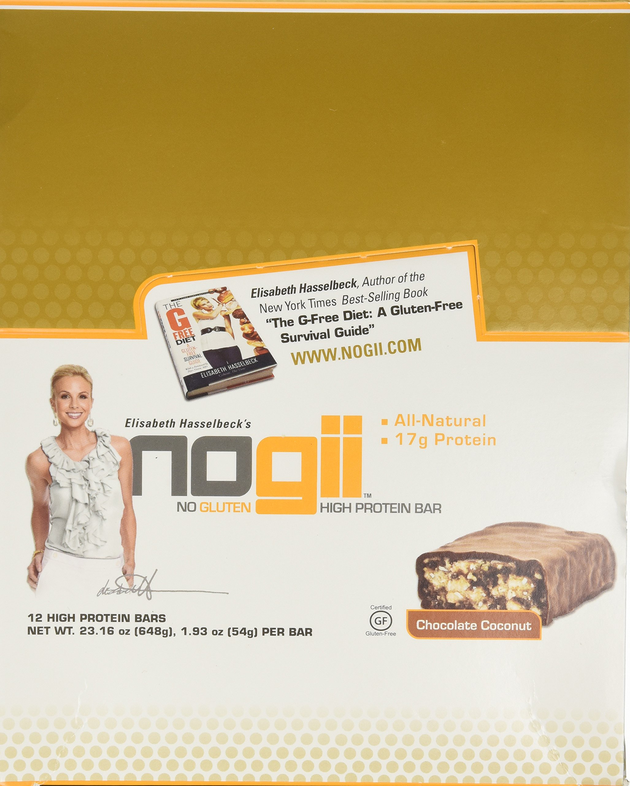 NoGii High Protein Nutritional Bar, Chocolate Coconut, 1.93 Ounce Bars, 12 Count by NoGii (Image #4)